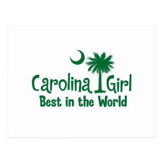 Green Carolina Girl Best in the World Postcard
