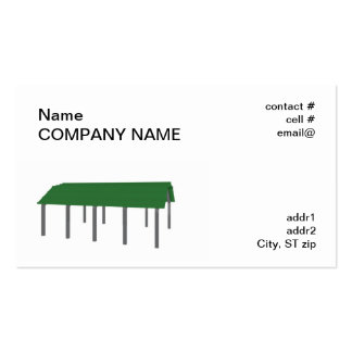 green carport Double-Sided standard business cards (Pack of 100)