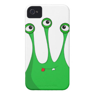 Green cartoon alien Case-Mate iPhone 4 case