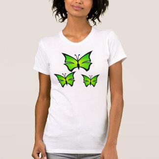 Green Cartoon Butterfly Tshirt