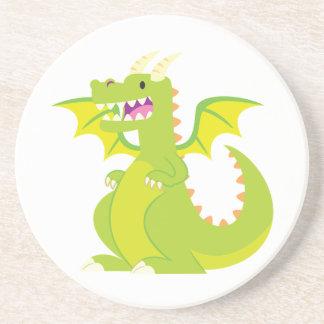 Green Cartoon Dragon Coaster
