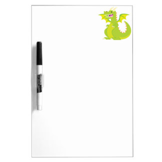 Green Cartoon Dragon Dry-Erase Whiteboards