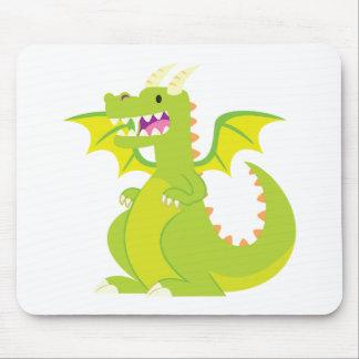 Green Cartoon Dragon Mousepad
