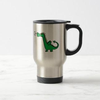 Green Cartoon Dragon Mugs