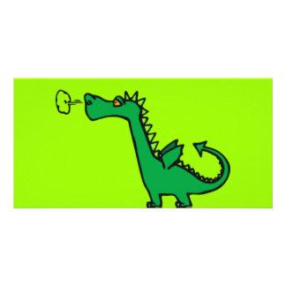 Green Cartoon Dragon Picture Card