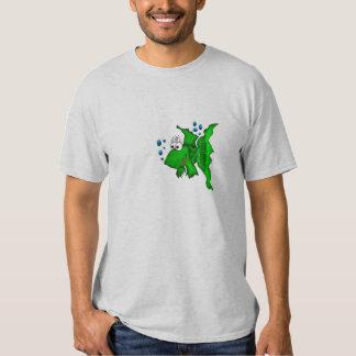 Green cartoon fish T-Shirt