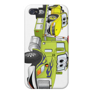 Green Cartoon Flatbed Tow Truck iPhone 4 Cover