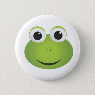Green Cartoon Frog Button