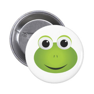 Green Cartoon Frog Button