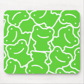 Green Cartoon Frog Pattern Mouse Pad