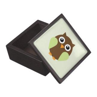 Green Cartoon Owl Jewelry Box