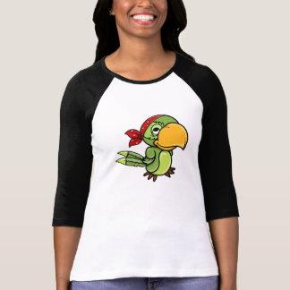 Green Cartoon Pirate Parrot T Shirts