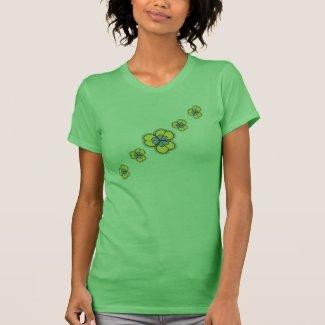 Green Cartoon Shamrocks Irish T-Shirts