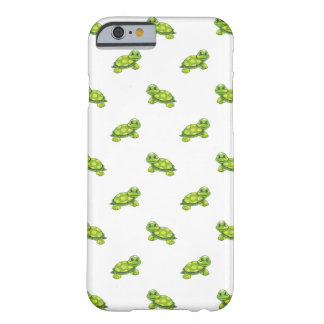 Green Cartoon Turtle with Yellow Dots Pattern Barely There iPhone 6 Case