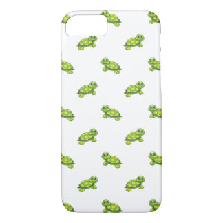 Green Cartoon Turtle with Yellow Dots Pattern iPhone 8/7 Case