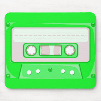 Green Cassette Mouse Pad