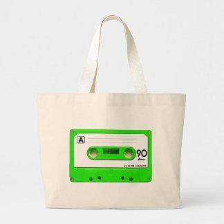 Green Cassette Tape Jumbo Tote Bag