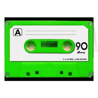 Green Cassette Tape Card