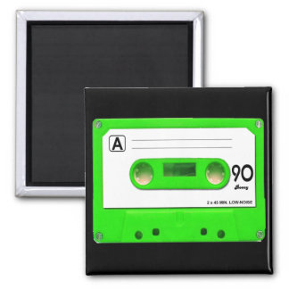Green Cassette Tape Magnet