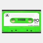 Green Cassette Tape Sticker