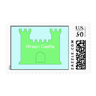 Green castle stamp. postage