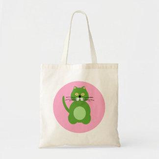 Green cat bag