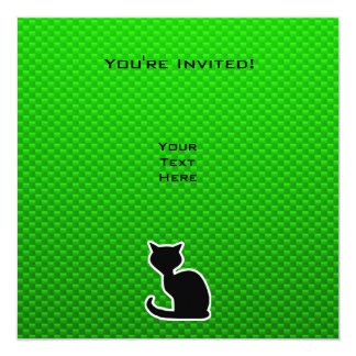 Green Cat Card