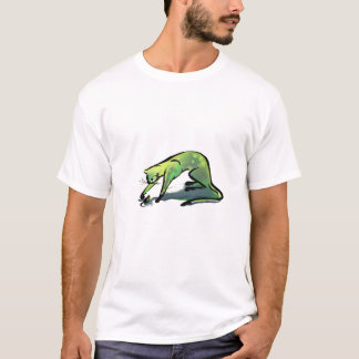 Green Cat & Mouse T-Shirt