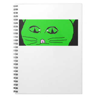 GREEN CAT NOTEBOOK
