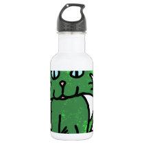 green cat stainless steel water bottle