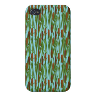 Green Cat Tails Floral Pattern iPhone 4 Cases