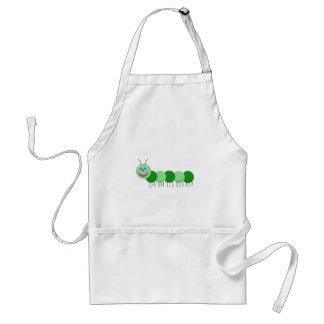 Green caterpillar adult apron