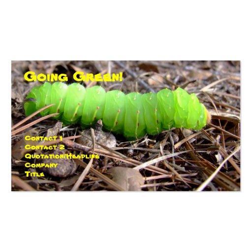 Green Caterpillar Business Card