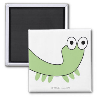 Green Caterpillar Fridge Magnet