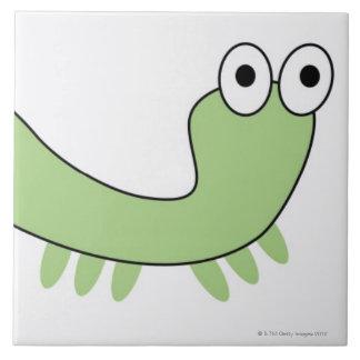 Green Caterpillar Tile
