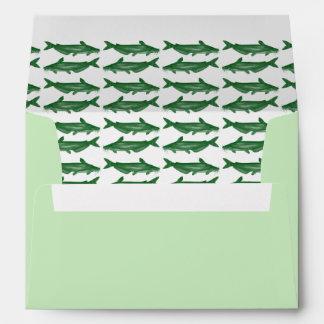 Green Catfish Envelope