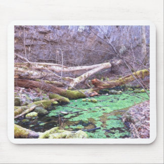 Green Cave Mouse Pad