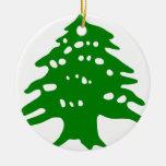 Green Cedar / Lebanon Cedar Ceramic Ornament