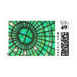 Green Ceiling Postage Stamp