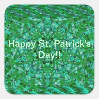 Green Celebrate stickers