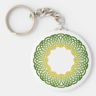 Green Celtic Circle Knotwork Keychain