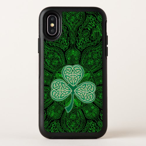 Green Celtic Clover Mandala Otterbox Case Phone Case