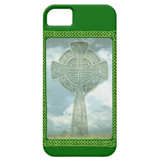 Green Celtic Cross And Clouds iPhone 5 Case