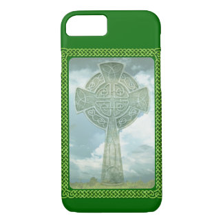 Green Celtic Cross And Clouds iPhone 7 Case
