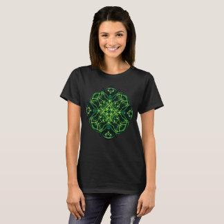 Green Celtic Cross & Clover Sacred Geometry Shirt