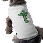 Green Celtic Cross Dog Shirt