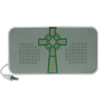 Green Celtic Cross Doodle MP3 Speaker