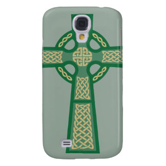 Green Celtic Cross iPhone 3 Case