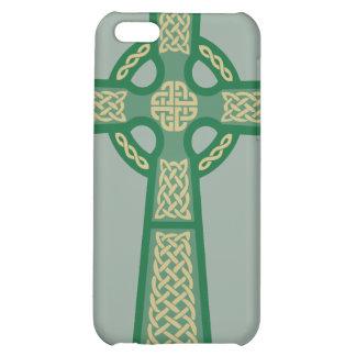 Green Celtic Cross iPhone 4 Case