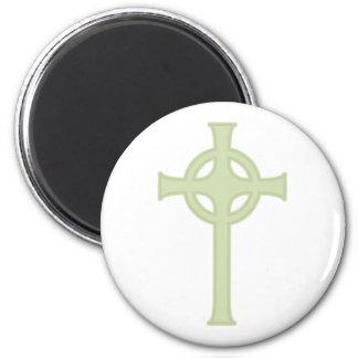 Green Celtic Cross Magnet